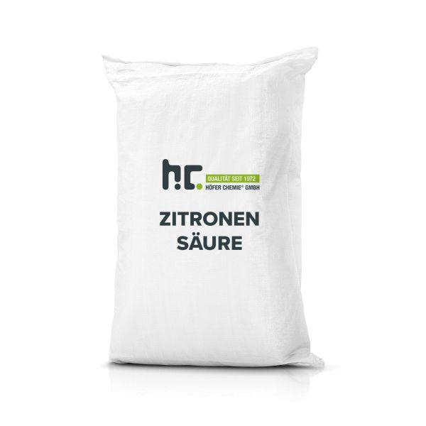 25 kg Zitronensäure Granulat in Lebensmittelqualität bei Höfer Chemie