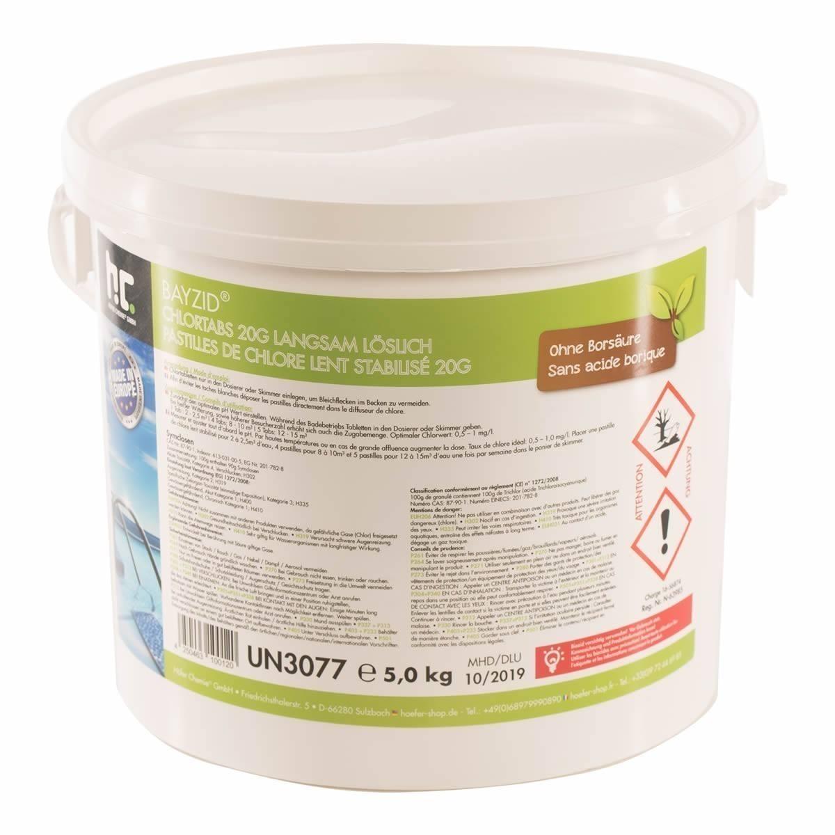 1 x 5 kg Chlortabs 20g langsam löslich