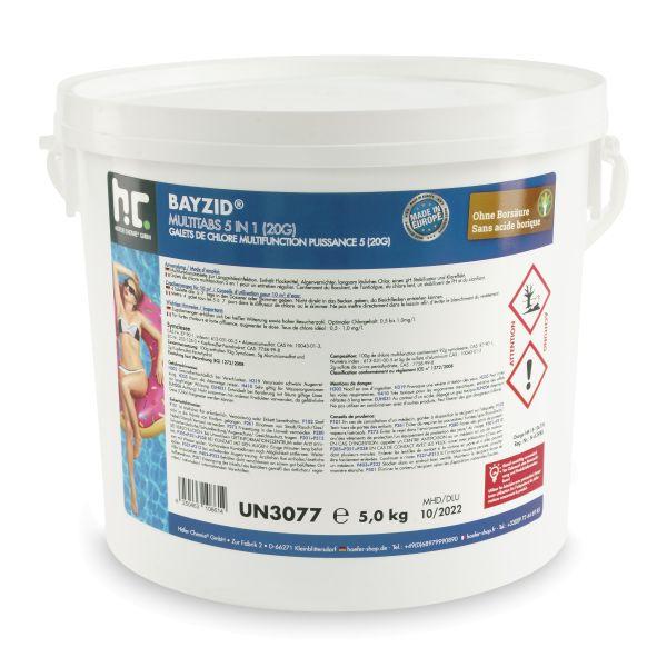 5 kg BAYZID Multitabs 20g 5in1 für Pools