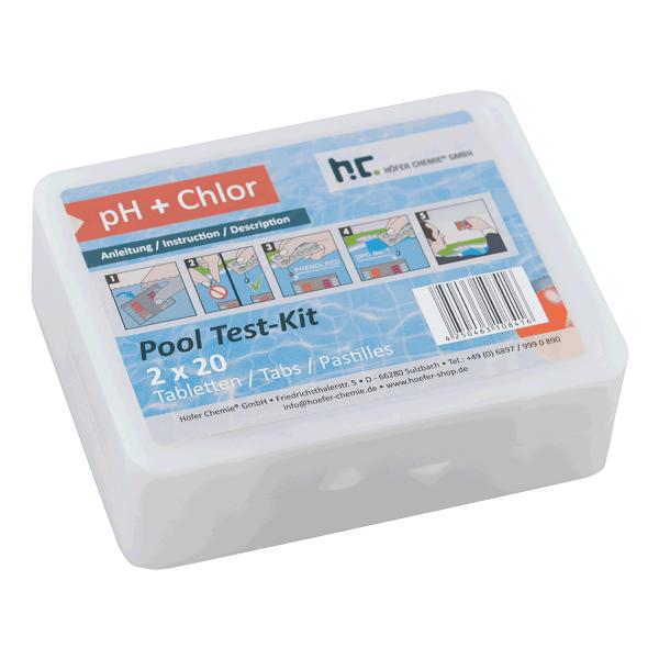 Test-Kit zur optimalen Messung des Chlorgehalts und pH-Werts