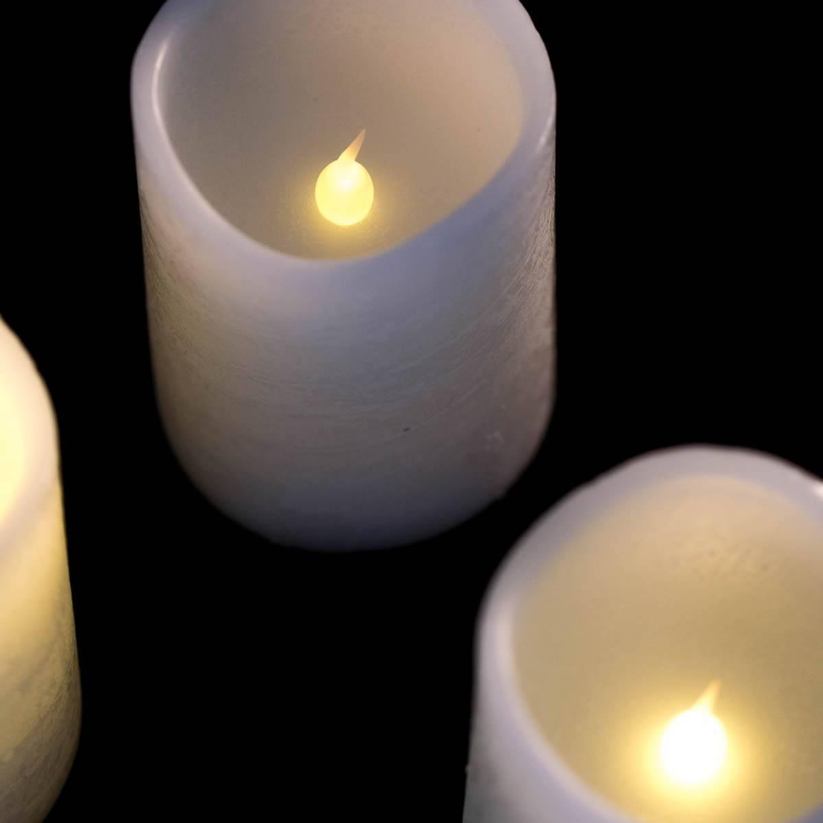 4 LED Adventskerzen