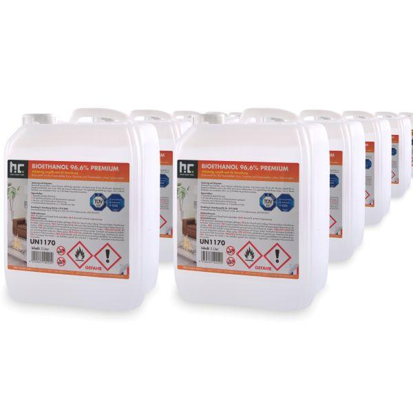 16 x 5 L Bioethanol 96,6% Höfer Chemie im 5l Kanister Brenstoff